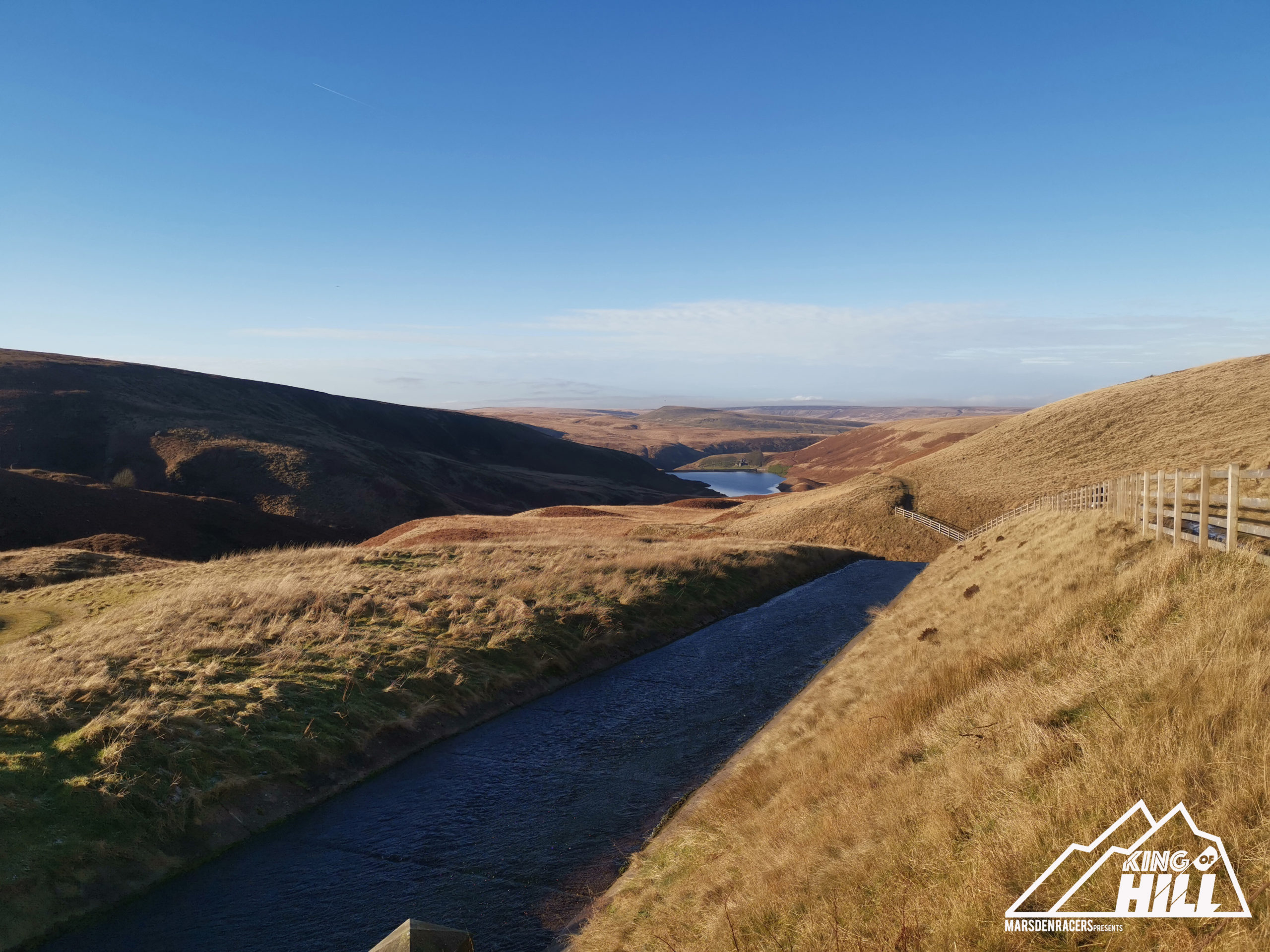 King of the Hill Course Route in Marsden